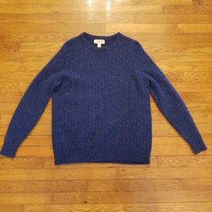 Elliot Mulryan Mens XL Cashmere Sweater Blue